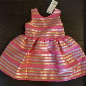 NWT Gymboree Pink Dress with sparkled stripes